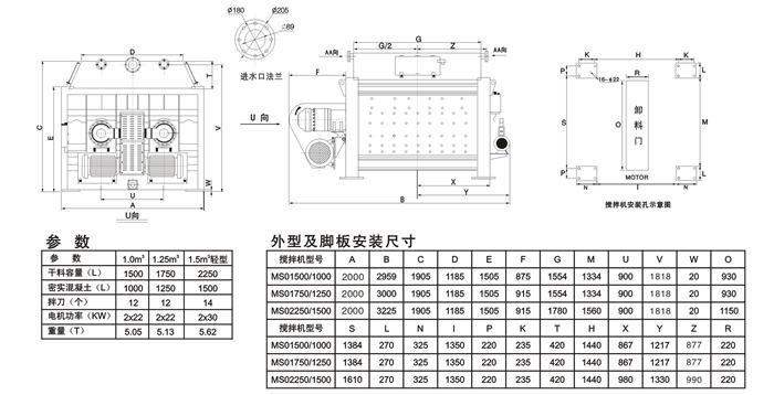 仕高玛mso小型双卧轴商品混凝土搅拌机